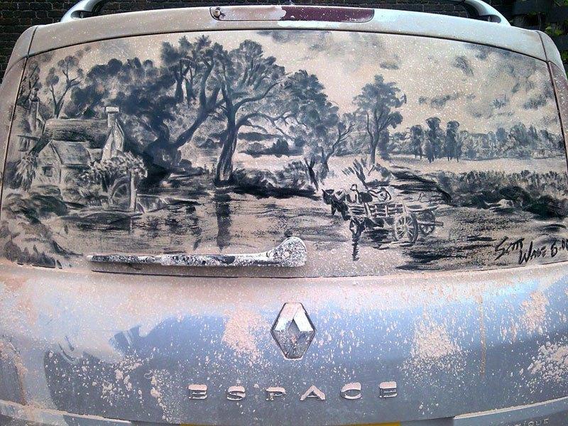 Художник превращает грязные автомобили в произведения искусства (3)