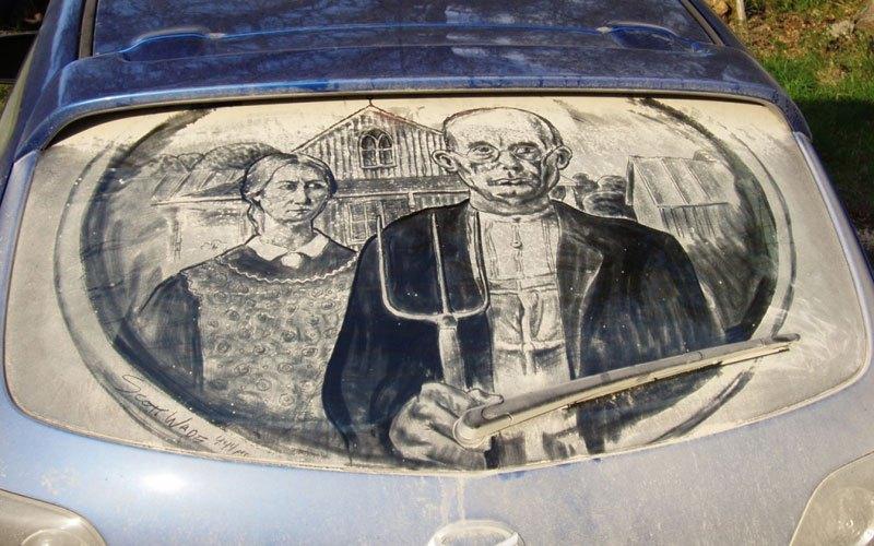 Художник превращает грязные автомобили в произведения искусства (9)