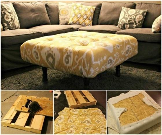 DIY Pallet Ottoman- wonderfuldiy