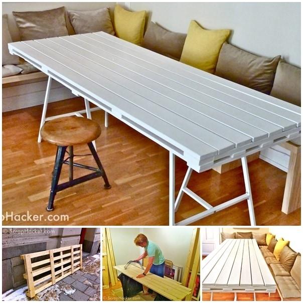 pallet dining-table -wonderfuldiy