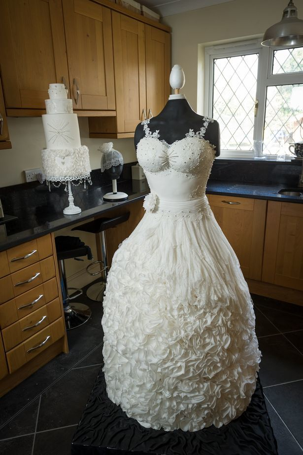 The life size wedding dress cake