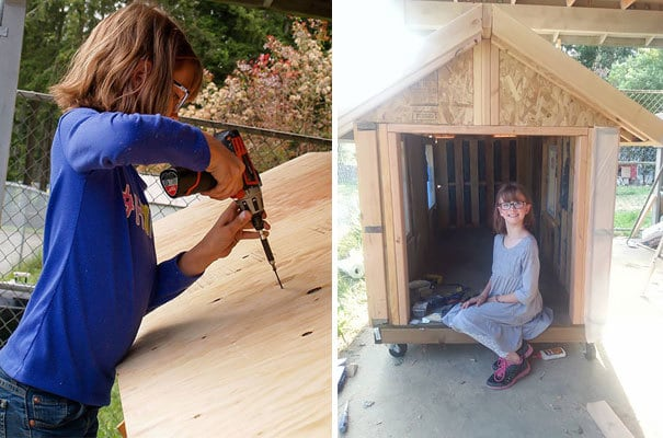 9-year-old Girl Builds Shelters For The Homeless And Grows Food For Them, Too