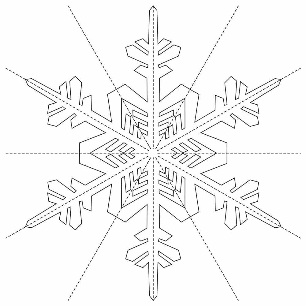 схема бумажной снежинки красивой распечатать