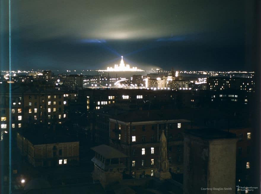 Ночной снимок Москвы