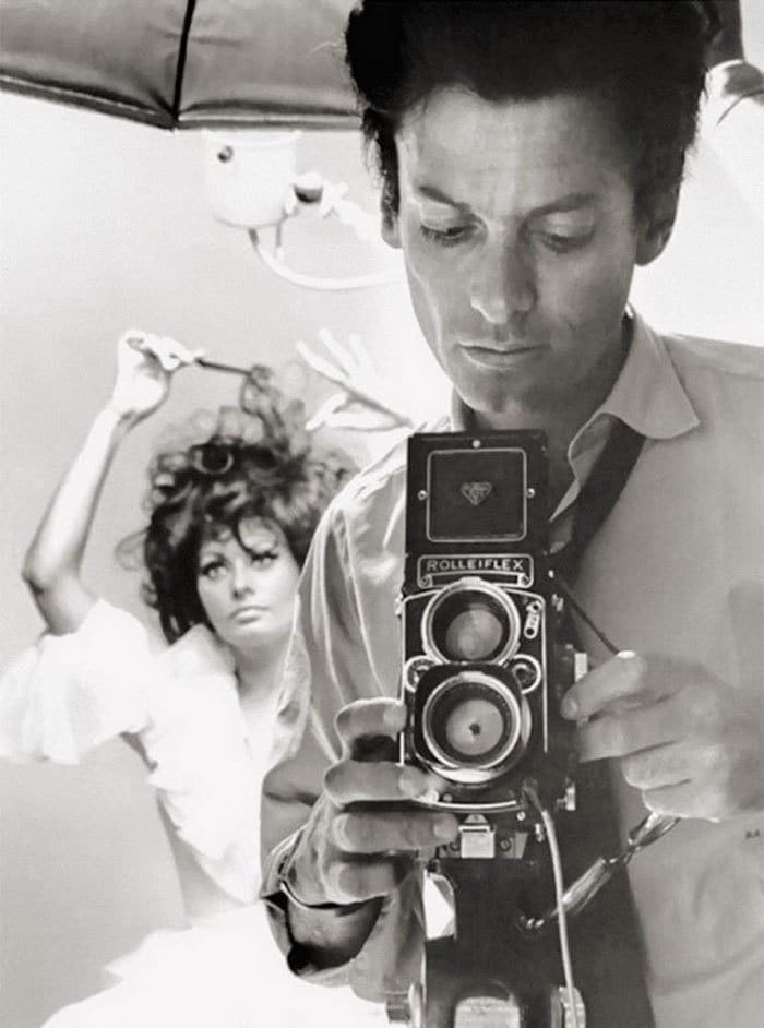 Richard Avedon And Sophia Loren, 1960s