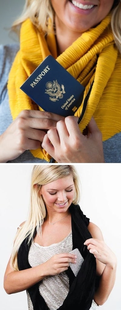 #1. A pocket scarf! Perfect for travel or even just a night out -- 25 Brilliant Clothing Items You Didn
