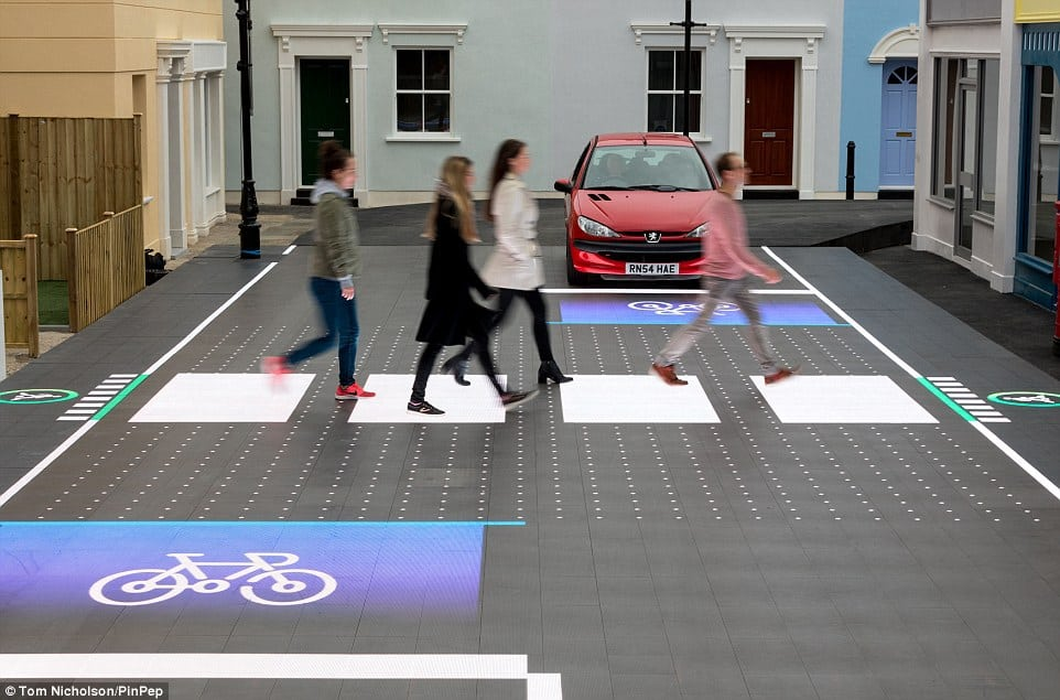 The road to the future? Direct Line said its Smart Crossing re-imagines what our streets should be like and puts people first
