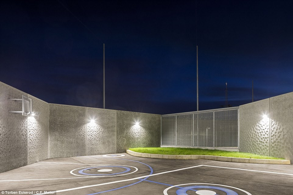Mads Mandrup, a designer at CF Møller Architects, said the jail was created to lower crime levels - something