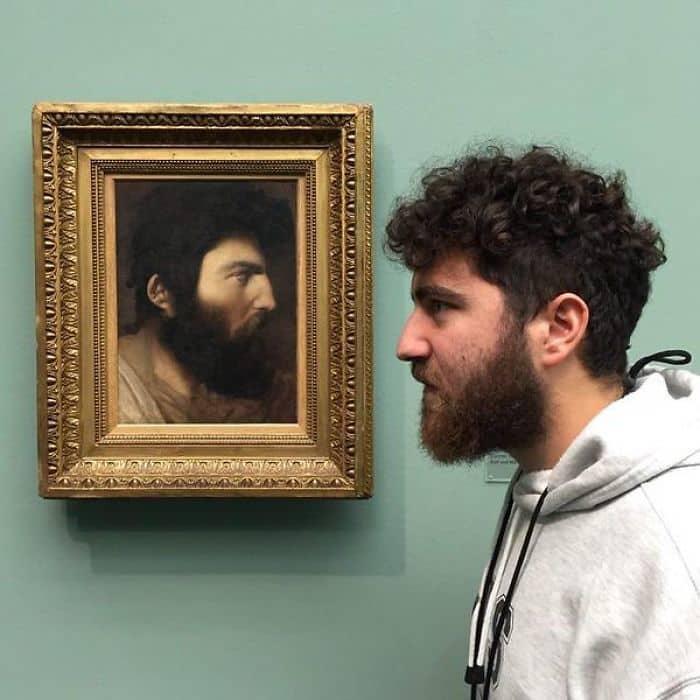 Нашел Мой Допплегангер с полувека в художественном музее в Цюрихе