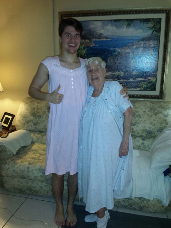 My 84-Year-Old Grandmother Apologized For Having To Wear Her Nightgown In Front Of Us. I Said It Was No Problem And That It Actually Looked Very Comfortable, So She Immediately Offered One To Me. It