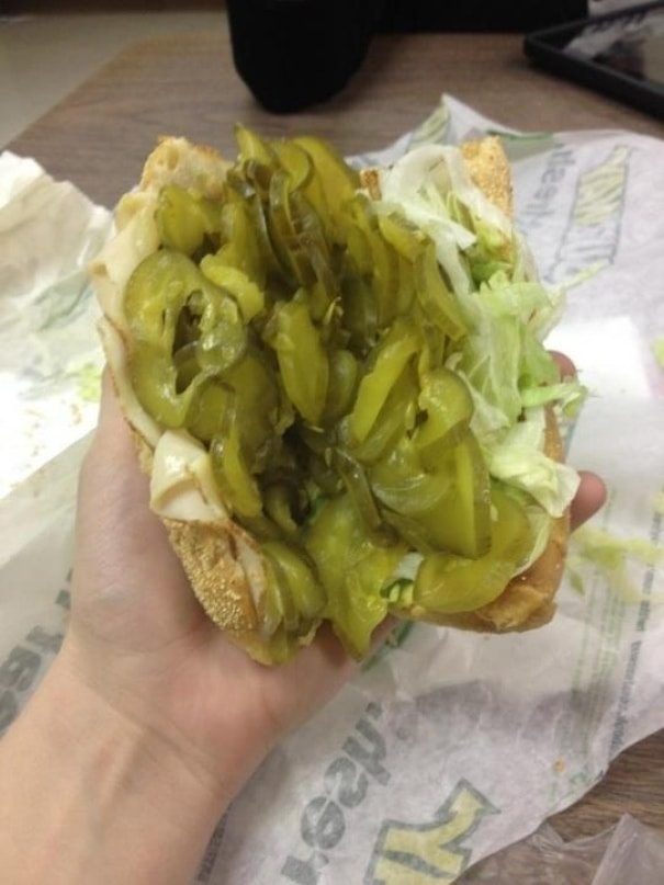 So I Asked For Extra Pickles Today At Subway