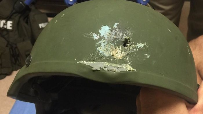 Orlando Police Shared This Photo On Twitter Showing Where A Bullet Struck An Officer