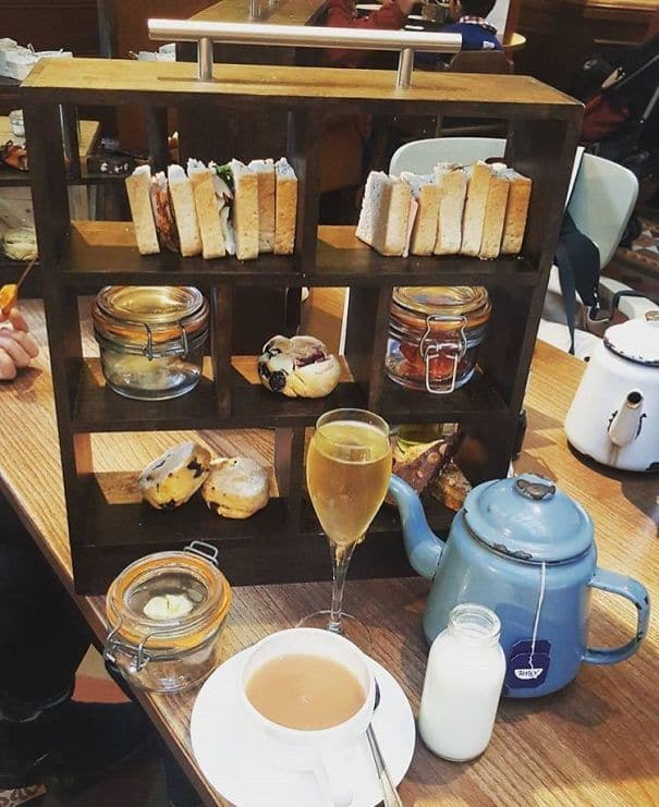 Afternoon Tea In A Bookcase