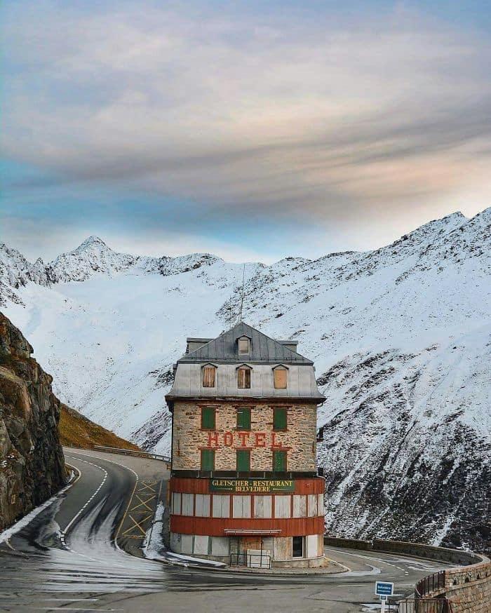 Hotel Belvédère Near The Rhône Glacier, Switzerland