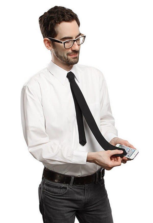 галстук с подкладкой из микрофибры