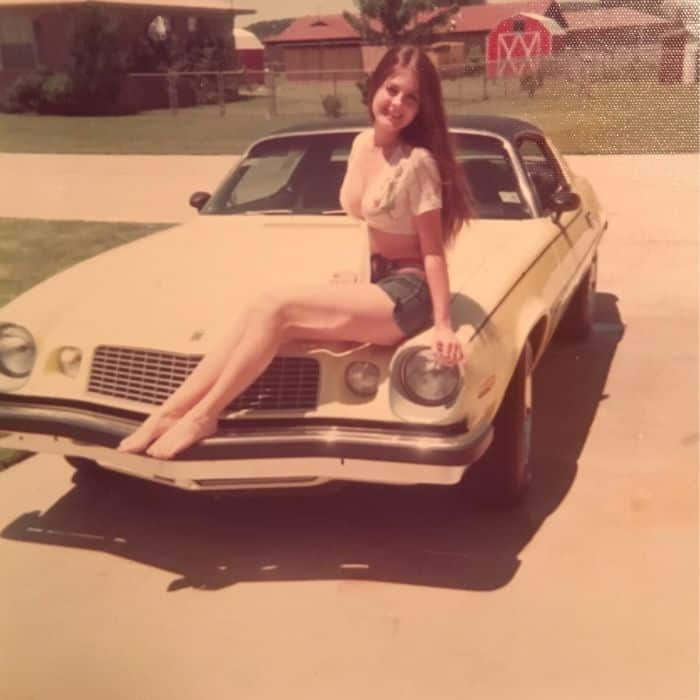 My Mom At 16 Yrs Old With Her Camaro In 1975