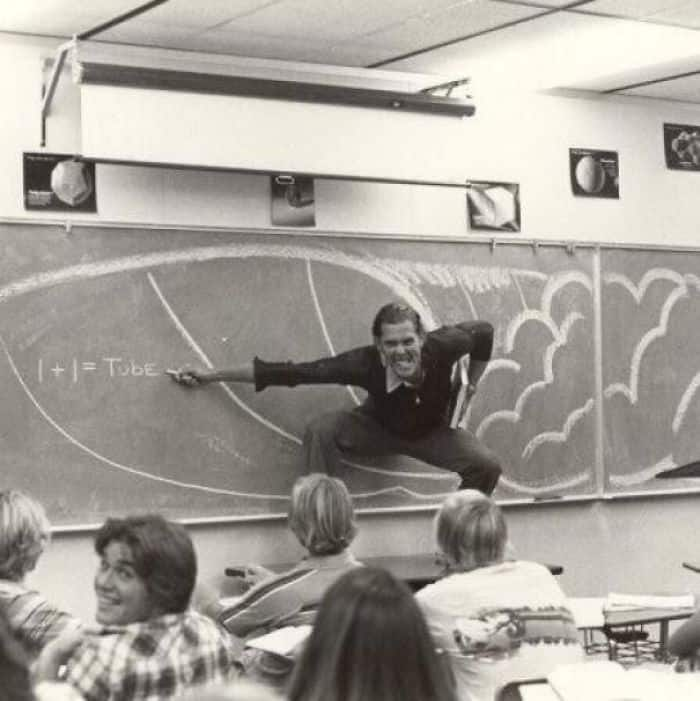 My Dad Teaching Math In Southern California (Late 70