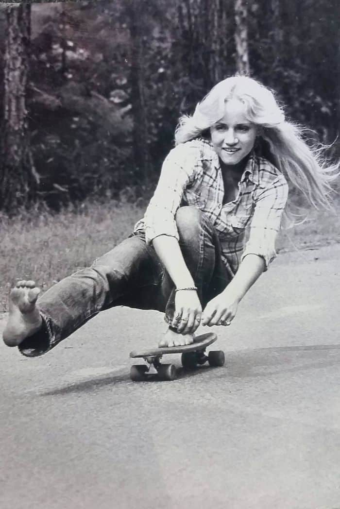 My Mother Skateboarding Barefoot In California In 1974