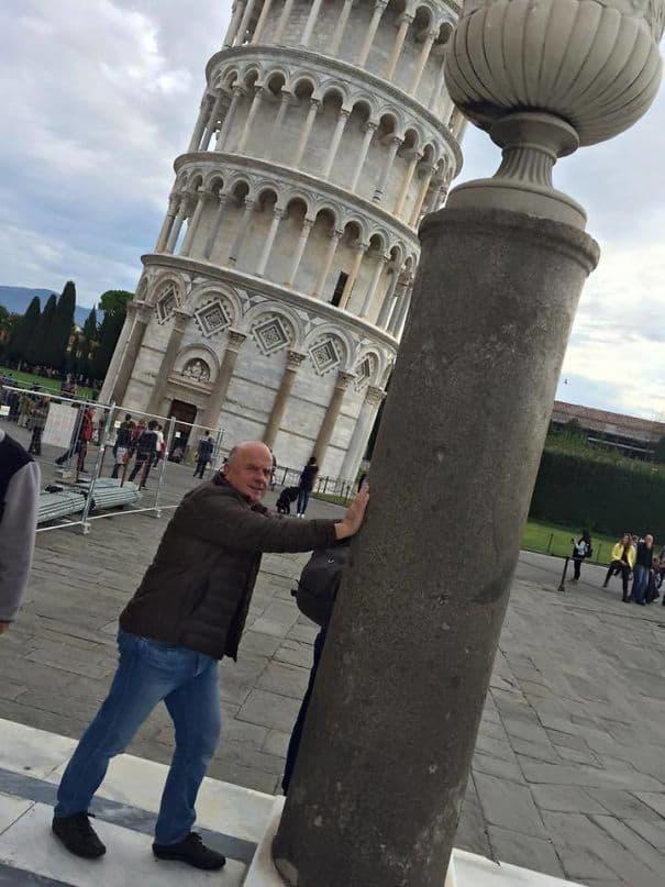 Мой дядя отправился на опирающуюся башню Пизы, не уверен, что он полностью схватил концепцию