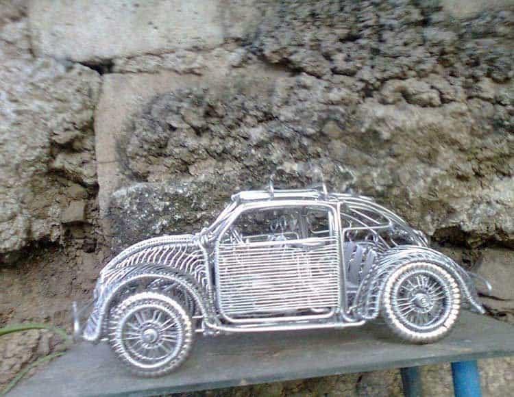 Скульптуры автомобилей из проволоки филиппинского самоучки авто, игрушка, моделизм, проволока, самоделка, своими руками, скульптура, талант