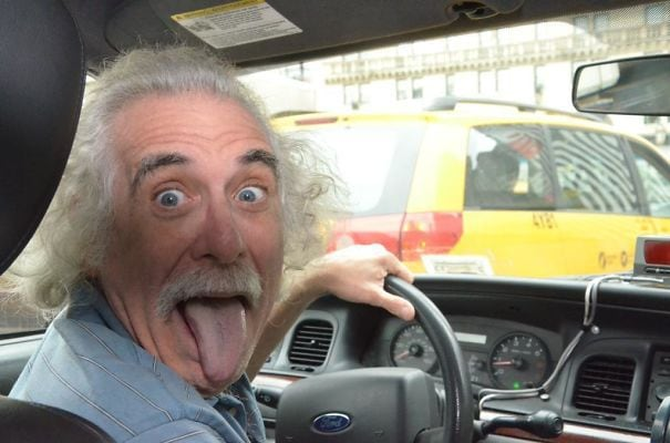 Albert Einstein Drives A Cab In New York City