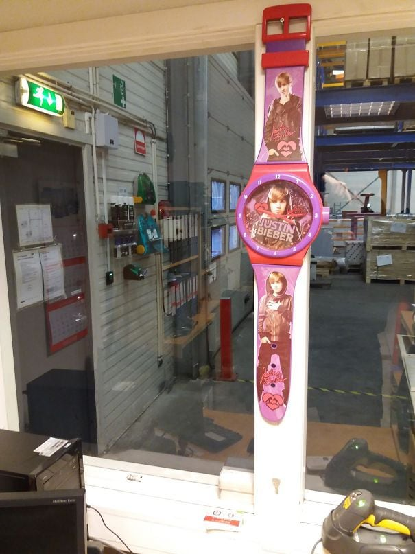 When You Request A Wall Clock For Your Office But Your Boss Is A D**k
