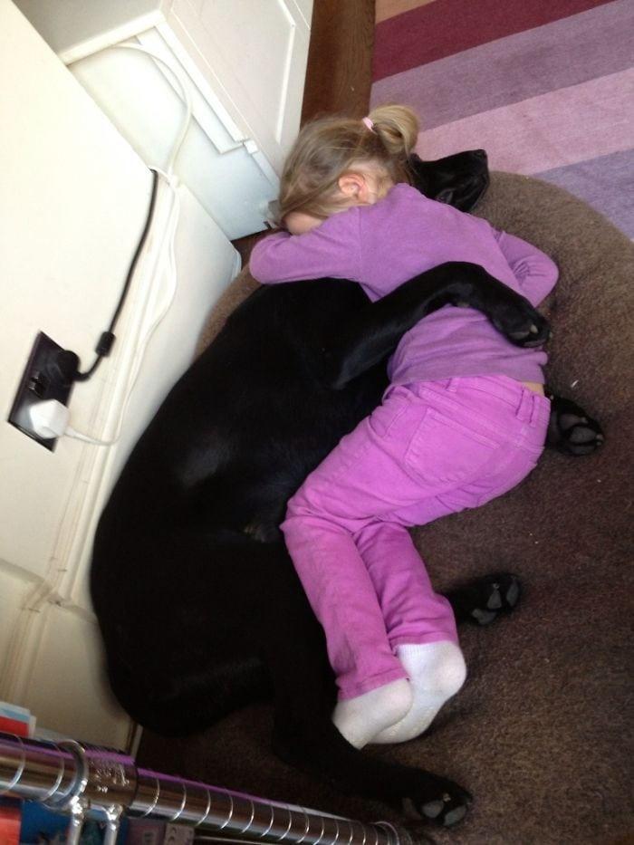 Когда она приходит домой с длинного дня в школе, имея плохой день, была рассказана или грустная. Ее лучший друг здесь для нее