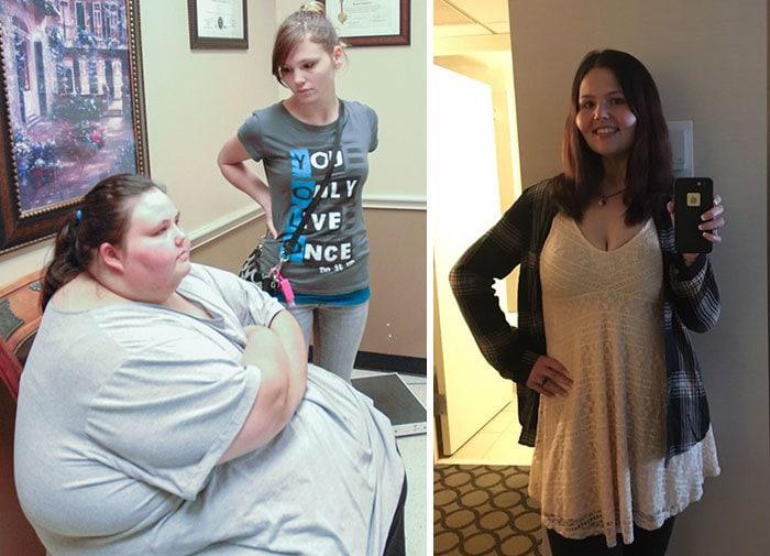 Кристина Филипс была 708 фунтов, она упала до 183 фунтов