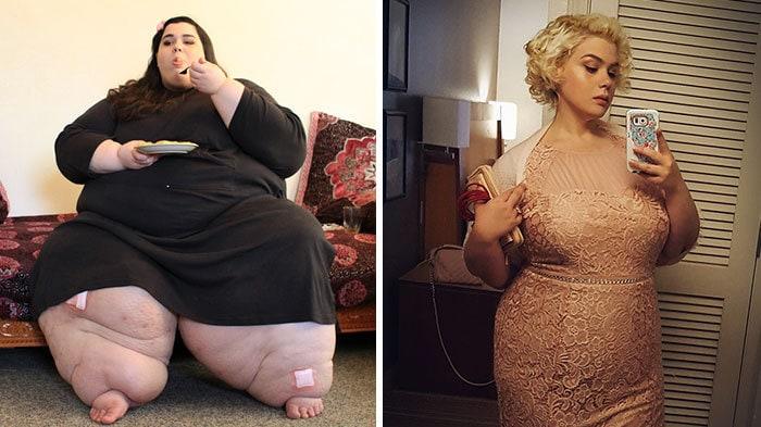 Янтарный Рахди был 660 фунтов, она упала до 236 фунтов