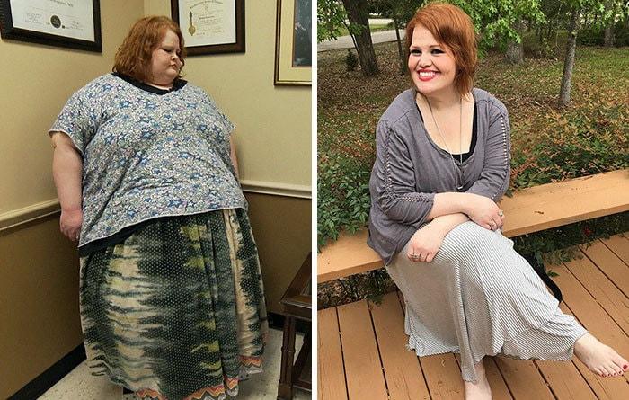 Никки Вебстер был 649 фунтов, она упала до 236 фунтов