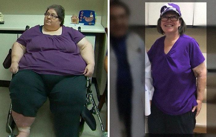 Диана была 601 фунтов, она упала до 223 фунтов
