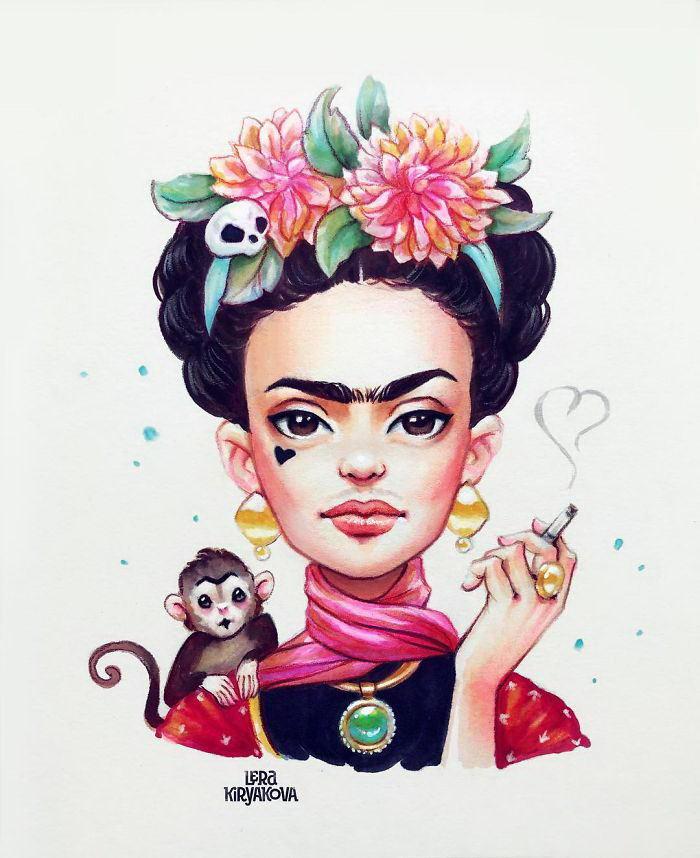 Очаровательные портреты персонажей Lera Kiryakova