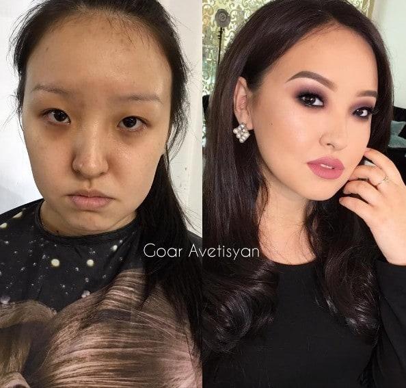 6. Полная перезагрузка до и после, до и после макияжа, макияж
