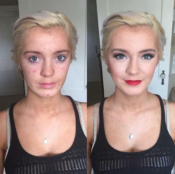 11. Горячая штучка до и после, до и после макияжа, макияж