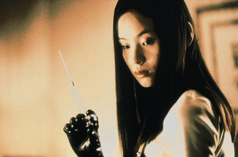 Editorial use only. No book cover usage.Mandatory Credit: Photo by Omega/Kobal/REX/Shutterstock (5872202b) Eihi Shiina Audition / Odishon - 1999 Director: Takashi Miike Omega JAPAN Scene Still