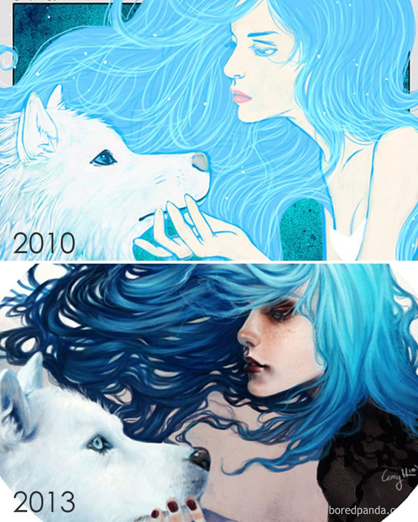 Progress Of 3 Years By Amy Hussein