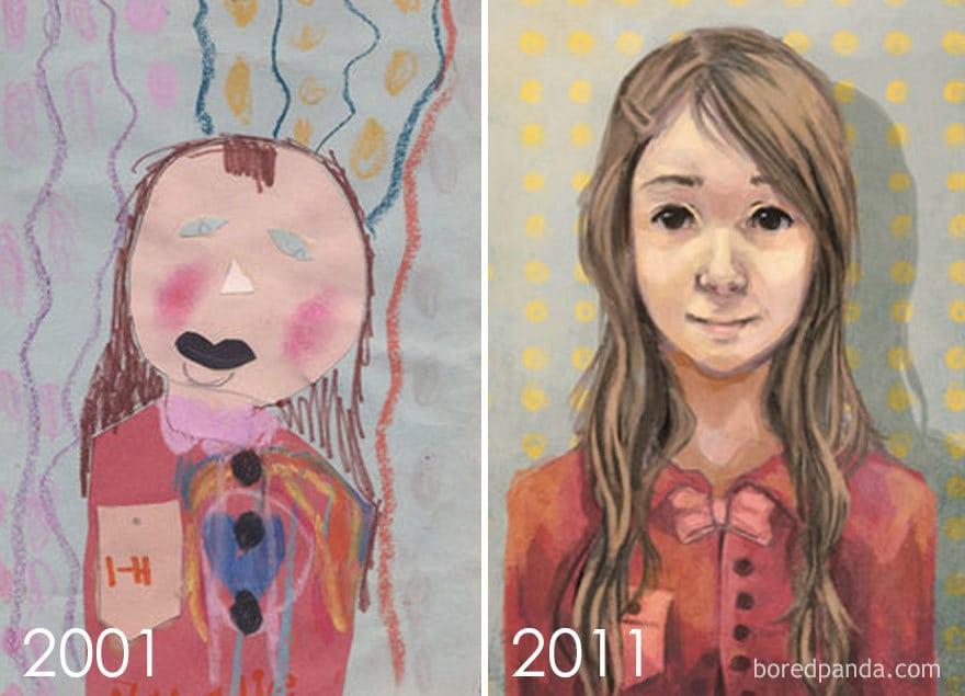 Age 5 Vs Age 15 By Natalie Dementhon