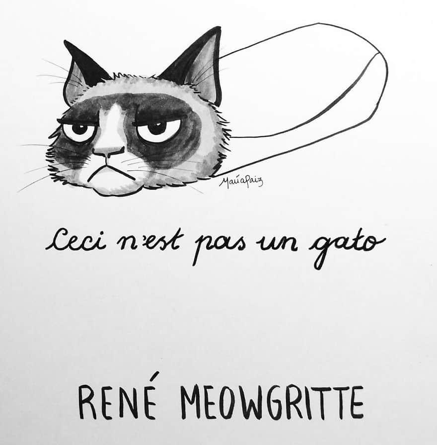 René Meowgritte