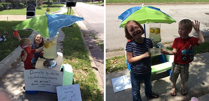 We Built A Pokestop Lemonade Stand To Raise Money For Children With Cancer