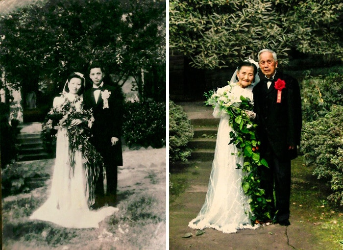 This Couple Recreate Their Wedding Day After 70 Years
