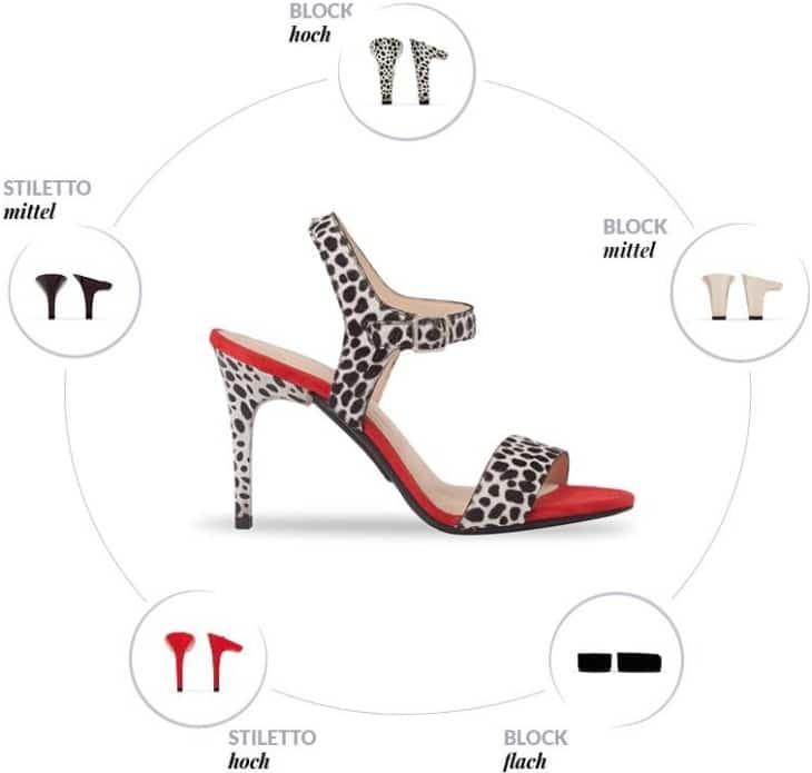 Босоножки со сменным каблуком от Mime et Moi могут быть использованы в пяти разных вариантах дизайна