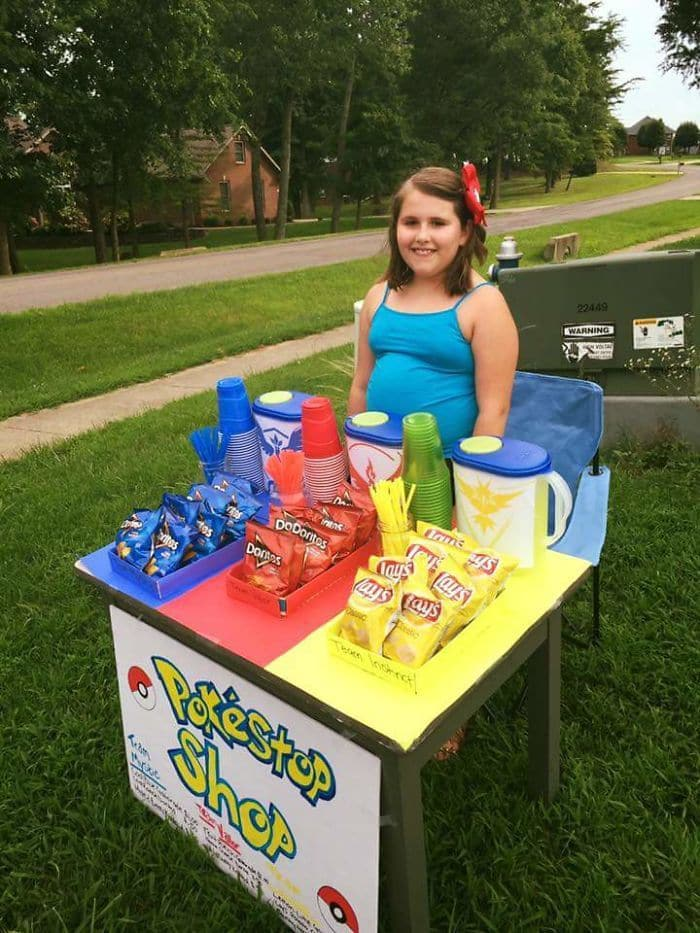 Girl In My Hometown Taking Advantage Of Having A Pokestop By Her Home