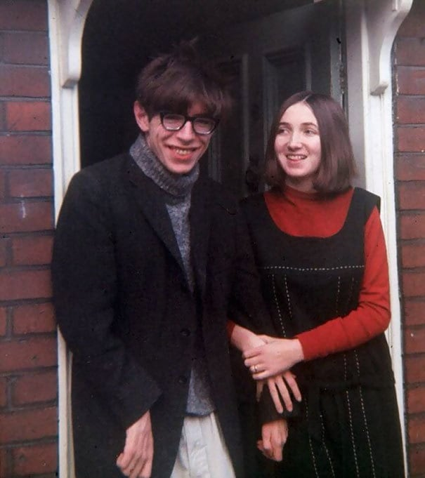 Young Stephen Hawking With His First Wife Jane, 1965