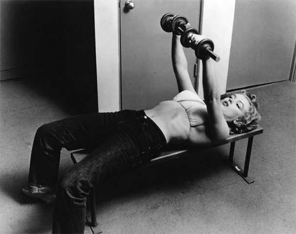 26-Year-Old Marilyn Monroe Working Out, 1952