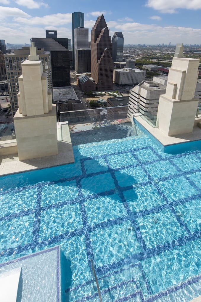 market square tower houston sky pool