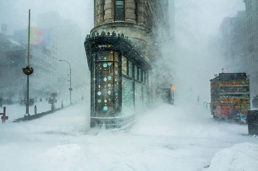 Flatiron Building In The Snowstorm By Michele Palazzo (Remarkable Award In Architecture & Urban Spaces Category)