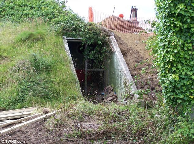 Secluded: the dugout used to spy on the skies and protect our vital cable tower was purposely difficult to find or spot