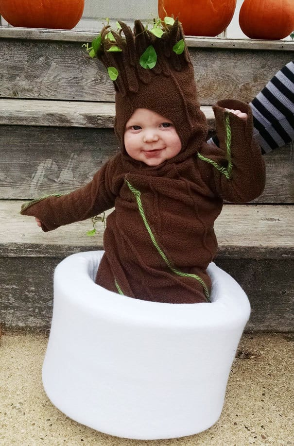 My Wife Made My Son A Baby Groot Costume For Halloween