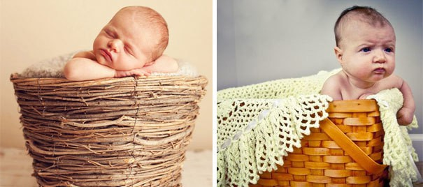 Cute Baby In A Basket. Nailed It