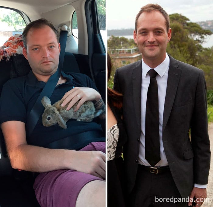 Before And After 307 Days Sober
